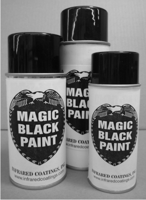 magic black spray paint